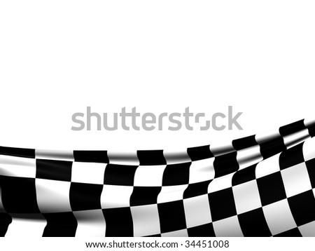 flag finish - stock photo
