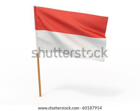 flag fluttering in the wind Indonesia. 3d - stock photo