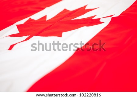 Flag from Canada to be used as background - stock photo