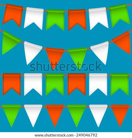 flag garland - stock photo