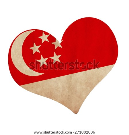 flag in the heart shape