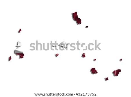 Flag map-latvia country on white background. - stock photo