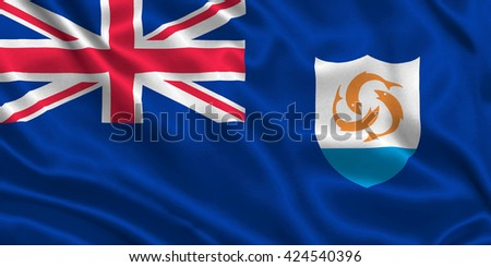 Flag of Anguilla - stock photo