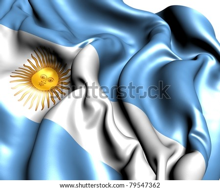 Flag of Argentina. Close up. - stock photo