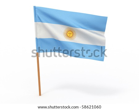 Flag of argentina . 3d - stock photo
