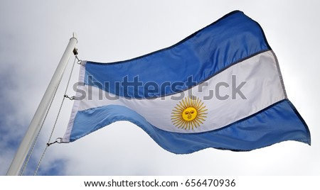 Flag of Argentina in the wind