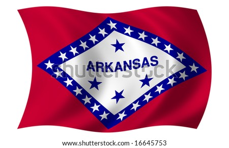 Flag of Arkansas - stock photo