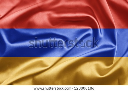 Flag of Armenia - stock photo
