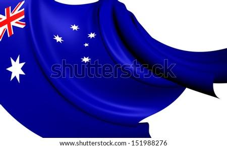 Flag of Australia. Close Up.    - stock photo