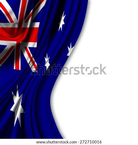 Flag of Australia on white background - stock photo