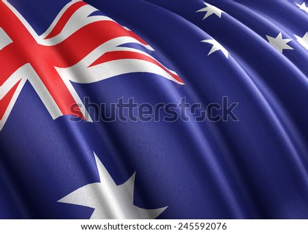 Flag of Australia (photorealistic)