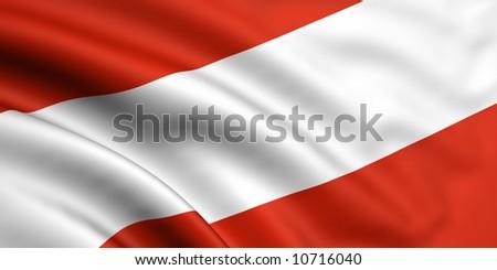 Flag Of Austria - stock photo