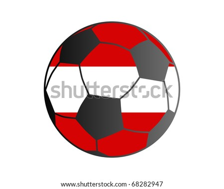 Flag of Austria and soccer ball