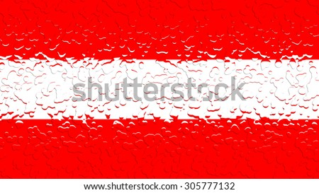 Flag of Austria, Austrian flag with water drops. - stock photo