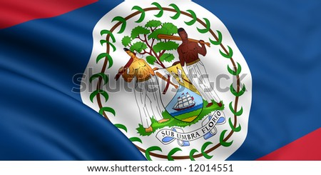 Flag Of Belize - stock photo