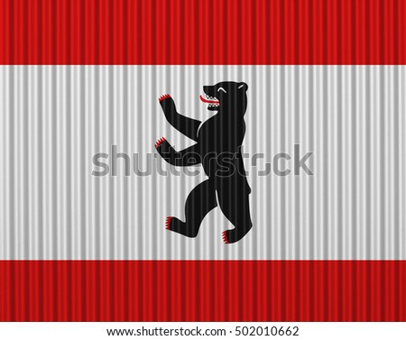 Flag of Berlin on corrugated iron