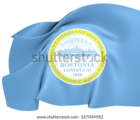 Flag of Boston, USA.  - stock photo