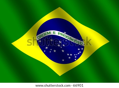 Flag of Brazil with waving effect