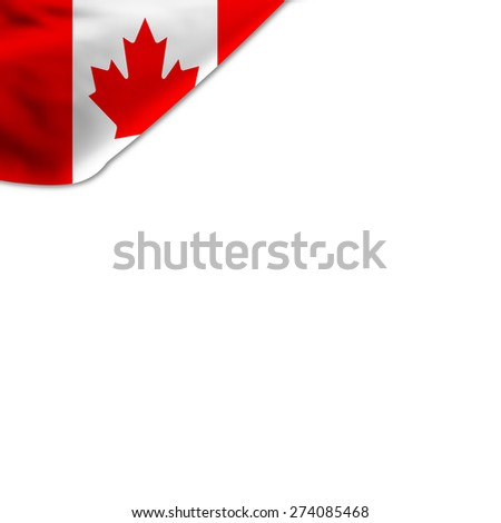 Flag Canada Located Corner Page Stock Illustration 274085468