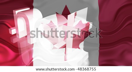 Flag of Canada, national country symbol illustration wavy net domain website