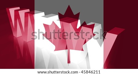 Flag of Canada, national country symbol illustration www internet e-commerce