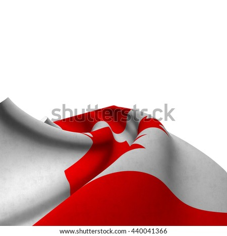 Flag of Canada silky,  fantastic close up shot ,masterfully folded  and resting on a white background-3d rendering - stock photo