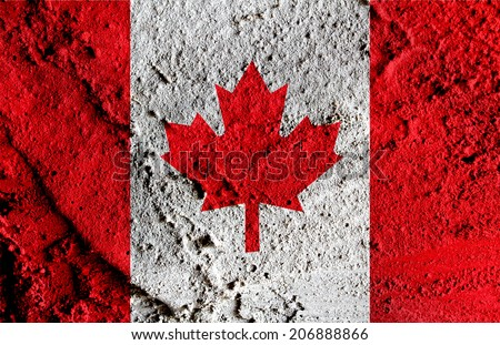 flag of Canada themes idea design - stock photo