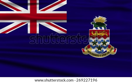 Flag of Cayman Islands with old texture.  illustration - stock photo