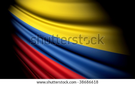 Flag of Colombia - stock photo