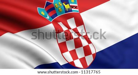 Flag Of Croatia - stock photo
