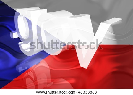 Flag of Czechoslovakia, national symbol illustration clipart wavy gov government website