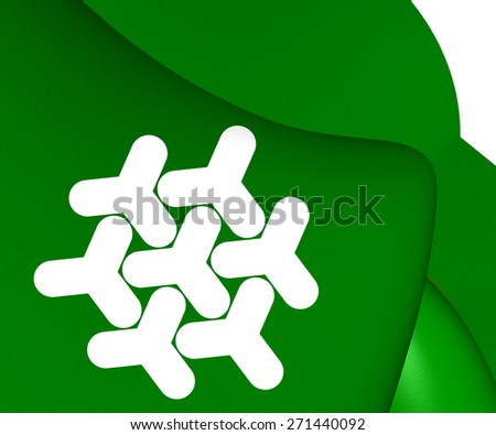 Flag of Dronten, Netherlands. Close Up. - stock photo
