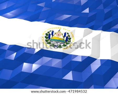 Flag El Salvador 3 D Wallpaper Illustration Stock Illustration