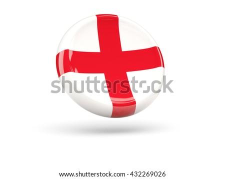 Flag of england, round icon. 3D illustration - stock photo