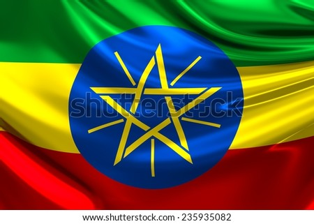 Flag of Ethiopia.