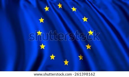 Flag of European Union EU - stock photo