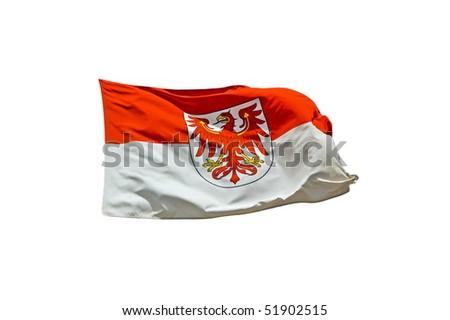 Flag of federal state Brandenburg - stock photo