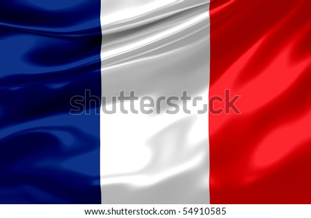 Flag of France on satin texture