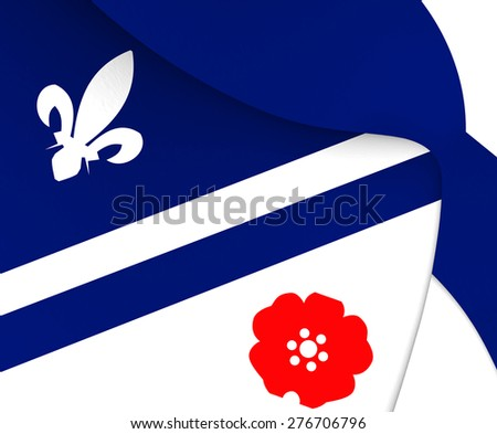 Flag of Franco Albertains. Close Up. - stock photo