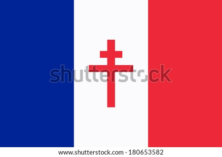 Flag Free France Symbol French Resistance Stock Illustration