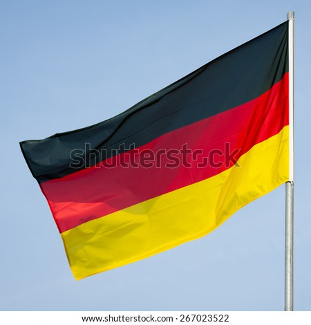 Flag of Germany - German flag - stock photo