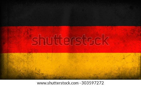 Flag of germany, German flag painted on old paper texture - stock photo