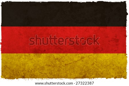 flag of germany - old and worn paper style