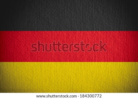 flag of Germany or German banner on paper background