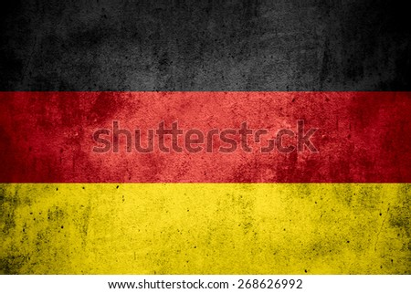 flag of Germany or German banner on rough pattern texture background