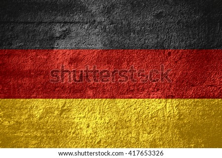 flag of Germany or German banner on rough texture
