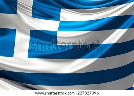 Flag of Greece. - stock photo