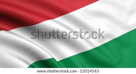 Flag Of Hungary - stock photo