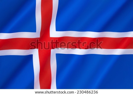Flag of Iceland - Adopted 17th June 1944, the day Iceland became a republic.