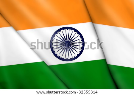 Flag of India - stock photo